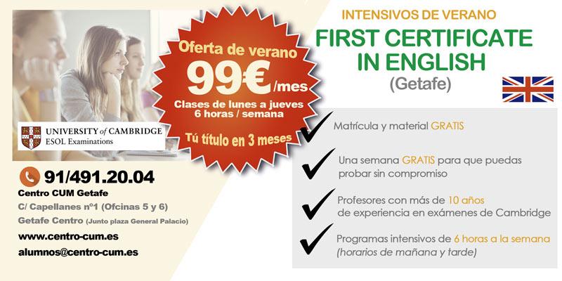 curso intensivo first certificate Getafe
