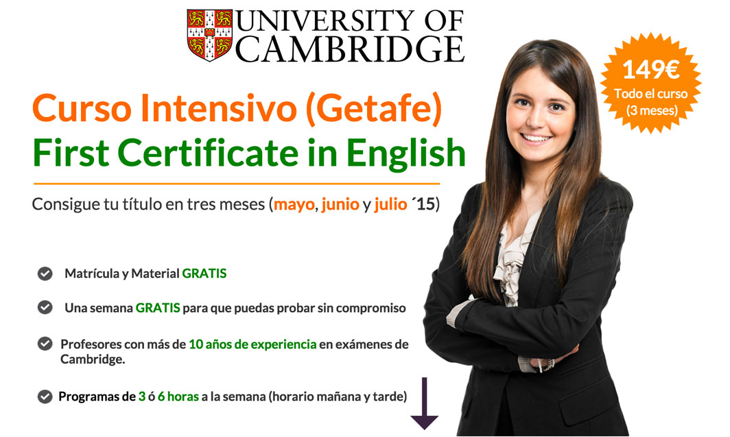 curso intensivo first getafe