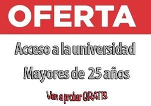 acceso universidad mayores 25 años Getafe