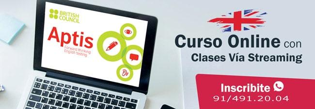curso online en la academia de inglés en Getafe APTIS